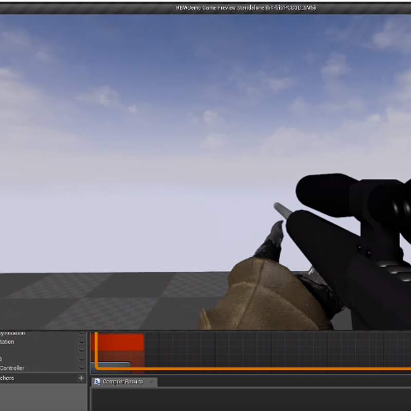 Realistic Blueprint Weapons UE4蓝图资源美术资源免费下载